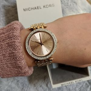 New in box Michael Kors rose gold watch